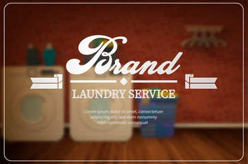 Laundry service advertisement design