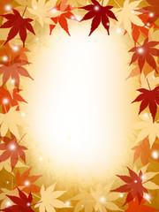 紅葉 紅葉狩り 和柄 和風 和紙 秋 フレーム