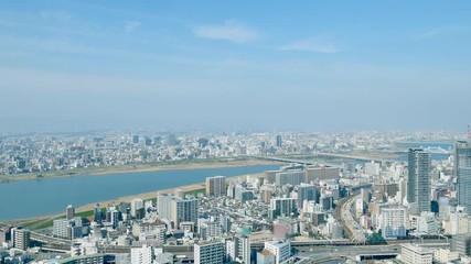 Wall Mural - 都市風景 大阪市 ノーマルスピード
