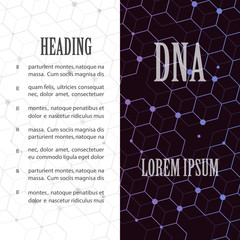 DNA abstract image of molecules containing genetic code with biological information