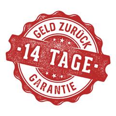 14 Tage Geld zurück Garantie Siegel/Stempel