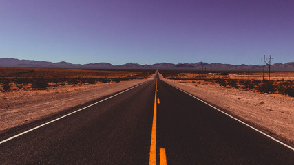 Fototapeten Route 66 Carretera Death Valley