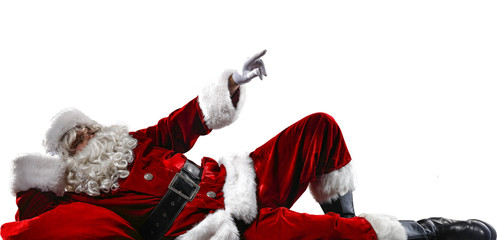 Santa Claus and white space
