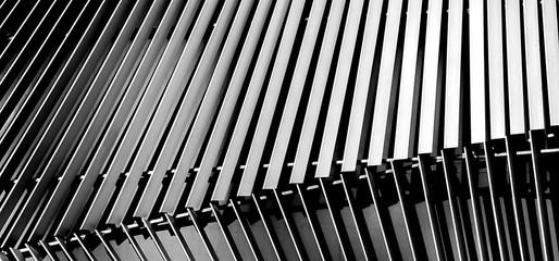 Abstract close-up view of modern silver ventilated on building
