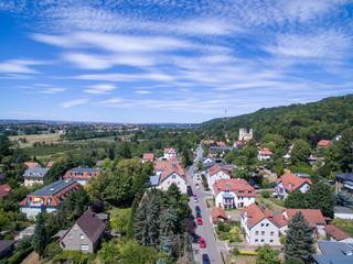 Luftbild Elbhang Pillnitz Dresden Drohne warm sommer schönes wetter Himmel