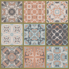 Set of tiles background. For wallpaper, backgrounds, ceramic and more. Decoration for your design