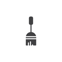 Sweeping broom vector icon. filled flat sign for mobile concept and web design. Broom stick simple solid icon. Symbol, logo illustration. Pixel perfect vector graphics