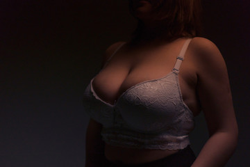 Sexy female breast of large size