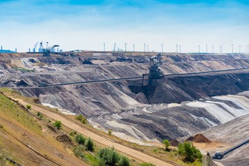 lignite (brown-coal) mine in Germany