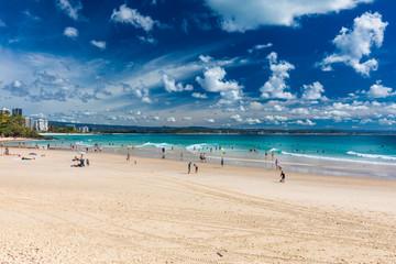 COOLANGATTA, AUS - MAY 01 2017, Coolangatta beach and Rainbow Bay, Gold Coast, Australia
