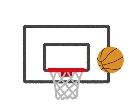 basketball hoop/basket illustration (rough touch)