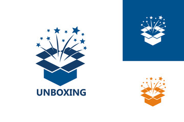Unpacking Logo Template Design Vector, Emblem, Design Concept, Creative Symbol, Icon