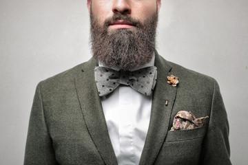 Detail of a very elegant gentleman