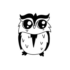 Doodle owl character.