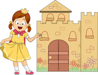 Kid Girl Play Princess Welcome Mini Castle