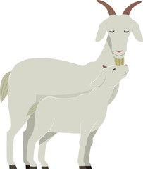 Goat Kid Illustration