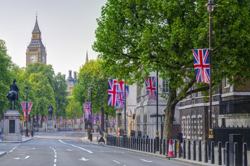 UK, England, London, Whitehall and Big Ben