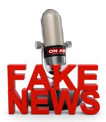 3D Illustration Fake news