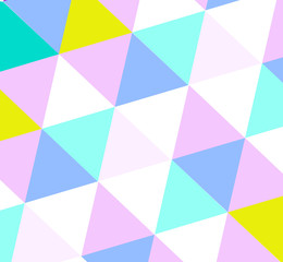 Triangle pattern in light color shades