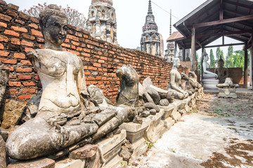 Archaeological site and Buddha of Thailand