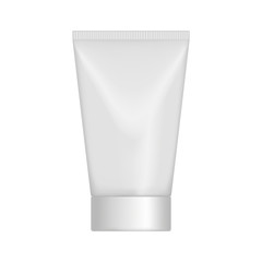 Vector mock up tube with a cover for hygienic creams for the skin.