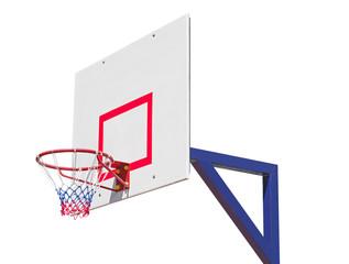Basketball backboard isolated on white