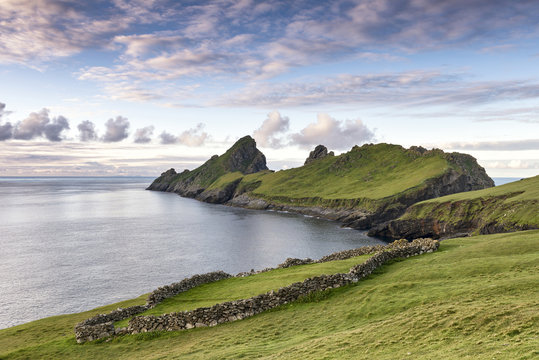 Early morning light on the island of Dun on St. Kilda