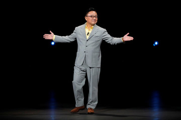 DJ Koh, Samsung's Mobile Communications Business president speaks at a Samsung product launch event in Brooklyn