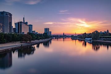 Sonnenaufgang in Frankfurt am Main