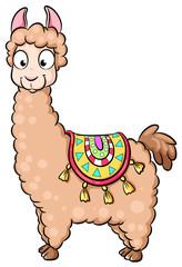 Niedliches Lama - Vektor-Illustration