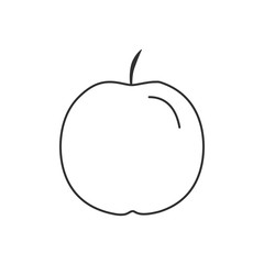 Apple icon in black flat outline design