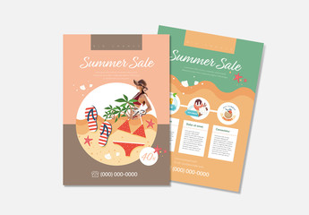 Flyer Layout With Duotone Background