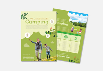 Camping Flyer Layout