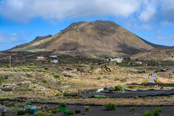 Corona Volcano in Lanzarote, Spain