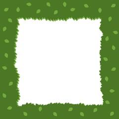 Green Foliage Square Frame