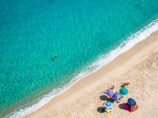 Beach of Tropea, Calabria in Italy. View from above.
