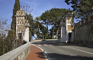 Old fortress in Monaco-Ville. Principality of Monaco