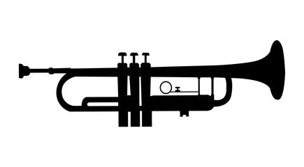 tromba, sagoma, silhouette, strumento Wall mural