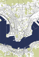 map of the city of Hong Kong, Special Administrative Region of the People's Republic of China