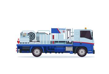 Modern Underground Tank Truck Refueler Airport Ground Support Vehicle Equipment Illustration