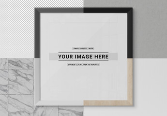 Isolated Framed Print Mockup