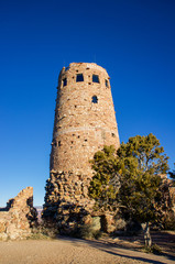 Red Clay Brigks form Tall Tower