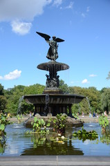 Central park water fountain, New York