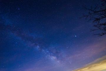 Milky Way over mountain