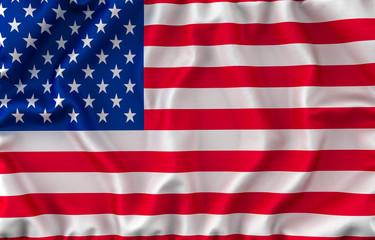 USA Waving Flag. 3D rendering