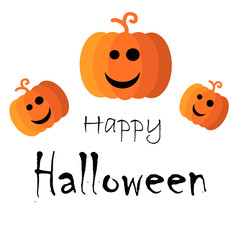 Halloween background, sale banner discount with pumpkins and bats. Vector illustration.