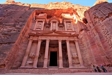 The Treasury (Al Khazneh) of Petra Ancient City at Sunset, Jordan