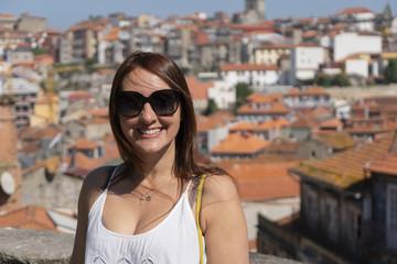 woman in Porto, Portugal.