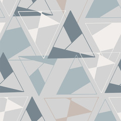 Seamless geometric pattern repeat of Triangles in various pastel colours on a grey background. Surface Pattern Design. Great for fabric, scrapbooking, paper products and more!