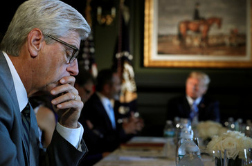 Mississippi Governor Bryant participates in a roundtable discussion U.S. President Trump and otherstate leaders on prison reform in Berkeley Heights, New Jersey